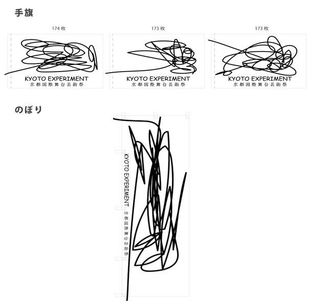 実績事例1093:芸術祭のオリジナル手旗・のぼりデザイン例